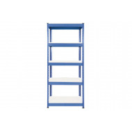 Rapid 1 heavy duty shelving with 5 melamine shelves 915wx1980h (blue)