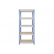 Rapid 1 Heavy Duty Shelving With 5 Chipboard Shelves 915wx1980h (Blue/Grey)