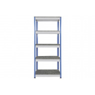Rapid 1 Heavy Duty Shelving With 5 Galvanized Shelves 915Wx1980H (Blue/Grey)