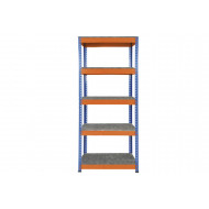 Rapid 1 Heavy Duty Shelving With 5 Galvanized Shelves 915wx1980h (Blue/Orange)