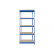 Rapid 1 Heavy Duty Shelving With 5 Chipboard Shelves 915wx1980h (Blue)