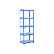 Rapid 1 Heavy Duty Shelving With 5 Galvanized Shelves 915wx1980h (Blue)
