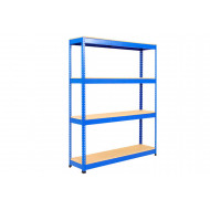 Rapid 1 Heavy Duty Shelving With 4 Chipboard Shelves 1220wx1980h (Blue)