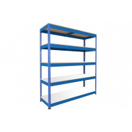 Rapid 1 Heavy Duty Shelving With 5 Melamine Shelves 1220wx1980h (Blue)
