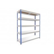 Rapid 1 Heavy Duty Shelving With 5 Melamine Shelves 1220wx1980h (Blue/Grey)