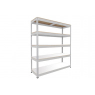 Rapid 1 Heavy Duty Shelving With 5 Melamine Shelves 1220wx1980h (Grey)