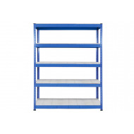 Rapid 1 Heavy Duty Shelving With 5 Galvanized Shelves 1220wx1980h (Blue)
