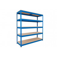 Rapid 1 Heavy Duty Shelving With 5 Chipboard Shelves 1525wx1980h (Blue)