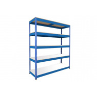 Rapid 1 Heavy Duty Shelving With 5 Melamine Shelves 1525wx1980h (Blue)