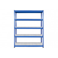 Rapid 1 Heavy Duty Shelving With 5 Galvanized Shelves 1525wx1980h (Blue)