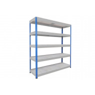 Rapid 1 Heavy Duty Shelving With 5 Galvanized Shelves 1525wx1980h (Blue/Grey)