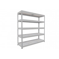 Rapid 1 Heavy Duty Shelving With 5 Galvanized Shelves 1220wx1980h (Grey)