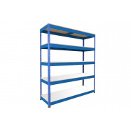Rapid 1 Heavy Duty Shelving With 5 Melamine Shelves 1830wx1980h (Blue)