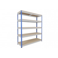 Rapid 1 Heavy Duty Shelving With 5 Chipboard Shelves 1830wx1980h (Blue/Grey)