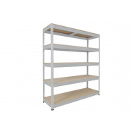Rapid 1 Heavy Duty Shelving With 5 Chipboard Shelves 1830wx1980h (Grey)