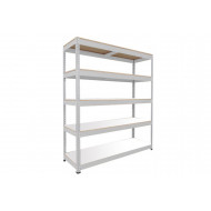 Rapid 1 Heavy Duty Shelving With 5 Melamine Shelves 1830wx1980h (Grey)