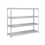 Rapid 1 Heavy Duty Shelving With 4 Wire Mesh Shelves 1830wx1980h (Grey)