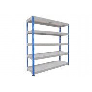 Rapid 1 Heavy Duty Shelving With 5 Galvanized Shelves 1830wx1980h (Blue/Grey)