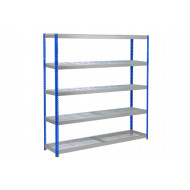 Rapid 1 Heavy Duty Shelving With 5 Wire Mesh Shelves 1830wx1980h (Blue/Grey)