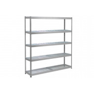 Rapid 1 Heavy Duty Shelving With 5 Wire Mesh Shelves 1830wx1980h (Grey)