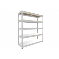Rapid 1 Heavy Duty Shelving With 5 Melamine Shelves 2134wx1980h (Grey)