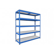 Rapid 1 Heavy Duty Shelving With 5 Galvanized Shelves 2134wx1980h (Blue)