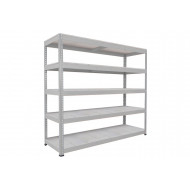 Rapid 1 Heavy Duty Shelving With 5 Galvanized Shelves 2134wx1980h (Grey)