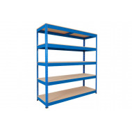 Rapid 1 Heavy Duty Shelving With 5 Chipboard Shelves 2440wx1980h (Blue)