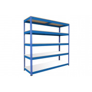 Rapid 1 Heavy Duty Shelving With 5 Melamine Shelves 2440wx1980h (Blue)