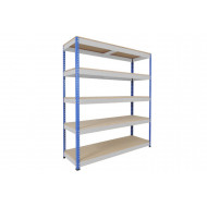 Rapid 1 Heavy Duty Shelving With 5 Chipboard Shelves 2440wx1980h (Blue/Grey)