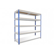 Rapid 1 heavy duty shelving with 5 melamine shelves 2440wx1980h (blue/grey)