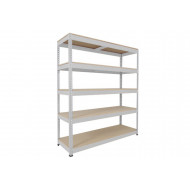 Rapid 1 Heavy Duty Shelving With 5 Chipboard Shelves 2440wx1980h (Grey)