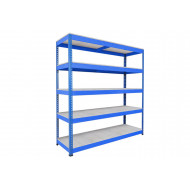 Rapid 1 Heavy Duty Shelving With 5 Galvanized Shelves 2440wx1980h (Blue)