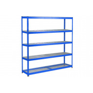 Rapid 1 Heavy Duty Shelving With 5 Wire Mesh Shelves 2440wx1980h (Blue)