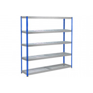 Rapid 1 Heavy Duty Shelving With 5 Wire Mesh Shelves 2440wx1980h (Blue/Grey)