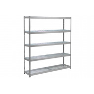Rapid 1 Heavy Duty Shelving With 5 Wire Mesh Shelves 2440Wx1980H (Grey)