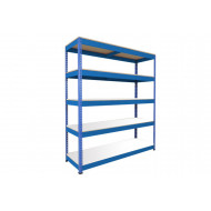 Rapid 1 Heavy Duty Shelving With 5 Melamine Shelves 1525wx2440h (Blue)
