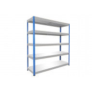 Rapid 1 Heavy Duty Shelving With 5 Melamine Shelves 1525wx2440h (Blue/Grey)