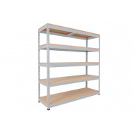 Rapid 1 Heavy Duty Shelving With 5 Chipboard Shelves 1525wx2440h (Grey)