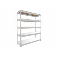 Rapid 1 Heavy Duty Shelving With 5 Melamine Shelves 1525wx2440h (Grey)