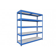 Rapid 1 Heavy Duty Shelving With 5 Galvanized Shelves 1525wx2440h (Blue)