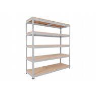 Rapid 1 Heavy Duty Shelving With 5 Chipboard Shelves 1830wx2440h (Grey)