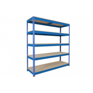Rapid 1 Heavy Duty Shelving With 5 Chipboard Shelves 1830wx2440h (Blue)