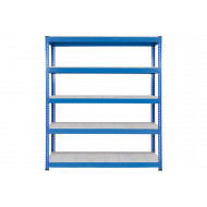 Rapid 1 Heavy Duty Shelving With 5 Galvanized Shelves 1830wx2440h (Blue)