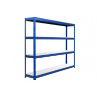 Rapid 1 Heavy Duty Shelving With 4 Melamine Shelves 2134wx2440h (Blue)