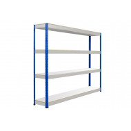 Rapid 1 Heavy Duty Shelving With 4 Melamine Shelves 2134wx2440h (Blue/Grey)