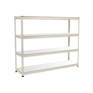 Rapid 1 Heavy Duty Shelving With 4 Melamine Shelves 2134wx2440h (Grey)
