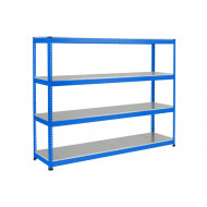 Rapid 1 heavy duty shelving with 4 galvanized shelves 2134wx2440h (blue)