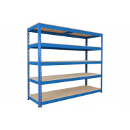 Rapid 1 Heavy Duty Shelving With 5 Chipboard Shelves 2134Wx2440H (Blue)
