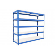 Rapid 1 heavy duty shelving with 5 melamine shelves 2134wx2440h (blue)